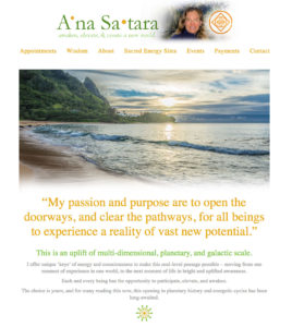 A'na Satara: A healer reinforces her message with an integrated photography site that can stand on its own