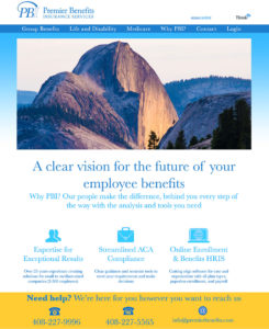 Premier Benefits: Letting California's nature take its course with site redesign to break the usual mold