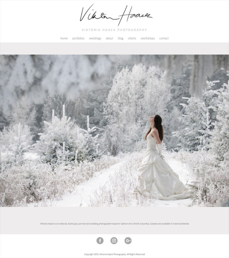 Viktoria Haack: Wedding and portrait photographer, teacher and guide to the beauty of British Columbia